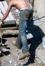 Shirtless Male Construction Worker Boots Dirty Jeans Working PHOTO PINUP 4X6 N95