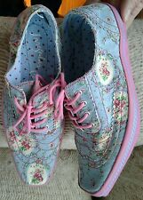 IRREGULAR CHOICE Floral Fashion Trainers Tennis Shoes Sneakers, New EU 38 US 7
