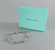 Tiffany and Co Paloma Picasso Sterling Silver and 18k Yellow Gold Link Bracelet