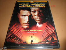 JACK RYAN 4 SUM of ALL FEARS DVD Tom Clancy Commentary Morgan Freeman Ben Afflec