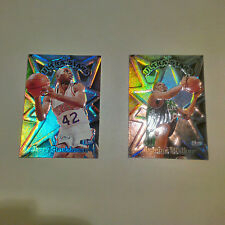 1997-98 Fleer Ultra 2 Card Lot of Ultra Stars Inserts for Walker & Stackhouse