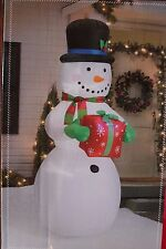 NEW AIRBLOWN INFLATABLE 8FT 8 FT LED LIGHTED SNOWMAN GIFT CHRISTMAS YARD DECOR