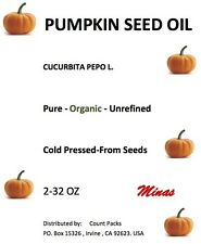 PUMPKIN SEED OIL UNREFINED ORGANIC CARRIER COLD PRESSED VIRGIN RAW PURE 32 OZ