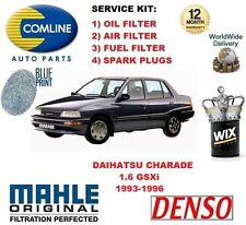 FOR DAIHATSU CHARADE 1.6 1993-1996 OIL AIR FUEL FILTER + SPARK PLUGS SERVICE KIT