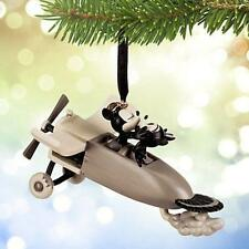 2015 Disney Store Tree Ornament Sketchbook Mickey & Minnie Plane Crazy NWT
