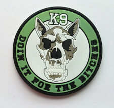 K-9 USA ARMY TACTICAL MILITARY MORALE BADGE PVC  HOOK PATCH  SH    689