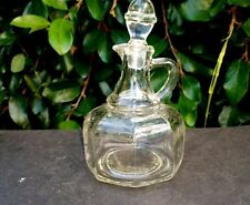 VINTAGE ANCHOR HOCKING CLEAR GLASS VINEGAR AND OIL CRUET BOTTLE DECANTER