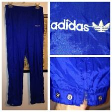 Vintage 80s Adidas SPELL-OUT TREFOIL Logo NYLON Track Suit SHINY Pants