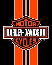"Harley Davidson Orange Stripe JUMBO Beach Pool Towel FULLY LICENSED 54""x68"""