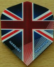 "5 Sets (5X3) Harrows Marathon ""Union Jack"" Dart Flights."