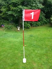 Set of 3 JL Golf backyard garden set Flag cup hole pin putting green stick pole