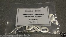 Seadoo Spark - Stainless Steel Oval Washers - Centre Body Kit (21 washers)