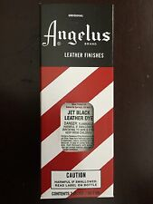 Angelus Brand Jet Black Leather Dye with Applicator in 3 Fl. Oz.