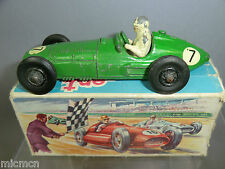 "VINTAGE CRESCENT TOYS  MODEL No.1285    ""BRM Mark2 ""  GP CAR   PART BOXED"