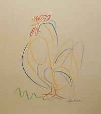 PICASSO ROOSTER LARGE VINTAGE COLOR LITHOGRAPH
