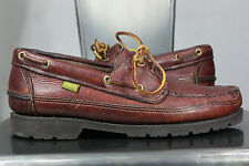 Gokey leather shoes 9.5 D moccasins camp boat vintage made in usa