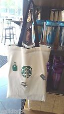 Bag Starbucks Tote White Coffee Shopping Lunch Canvas New pin create your own a
