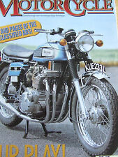 THE CLASSIC MOTORCYCLE MAGAZINE DEC 2002 FOUR PLAY PROTOTYPE LAVERDA JOLA MIRAGE