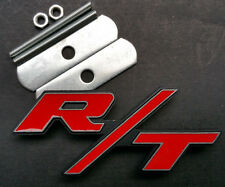 RT R/T Logo Dodge Ram Charger Challenger Head For Grille Emblem Badge Metal Hemi