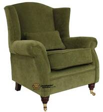 Ashley Fireside High Back Wing Armchair Pimlico Sage Green Fabric