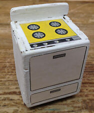 A24 Particle Board Vintage Dollhouse Doll House Stove Oven White Kit Constructio
