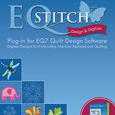 EQSTITCH EMBROIDERY DESIGN SOFTWARE for EQ7 Plug-In Digitize Embroidery Applique