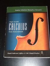 Single Variable CALCULUS Early TRANSCENDENTALS Stewart's Solution Manual 6E 2008