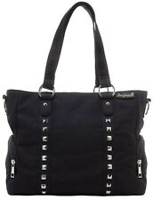 Sourpuss Leda Canvas Stud Black Emo Punk Goth Rocker Purse Handbag SPPU114