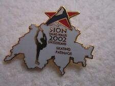 2002 SION Olympics FIGURE SKATING BID   Pin Badge