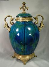 Antique MP Sevres French Ceramic and Bronze Covered Decorative Urn