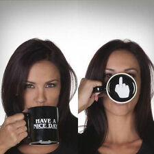 Ceramic Middle Finger Coffee Cup Personality Office Have A Nice Day Mug=