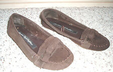 AMERICAN EAGLE Suede Leather Soft Cloth Moccasin Loafer Shoe~Well Worn~Brown~6