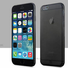 "Black Slim Matte Frosted Transparent Case iPhone 6/s 4.7"" & Screen Protector"