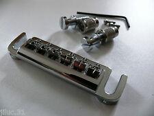 NEW BRIDGE WRAP AROUND et inserts - chrome - pour guitare Gibson, Epiphone...