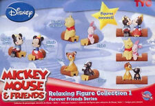 Disney MICKEY MOUSE & FRIENDS RELAXING FIGURE Collection 1 Complete set of 6 HTF