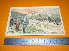 CHROMO 1914-1918 ECOLE BON-POINT F. NATHAN GENERAL BATAILLON REVUE VOSGES GUERRE