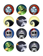 Nightmare before Christmas edible party cupcake toppers cupcake image sheet