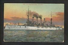 Military Ship postcard USN Navy USS Colorado ACR-7 armoured criuser vintage card
