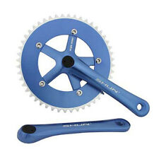 Blue Shun 48T Alloy 170 Single Speed Fixed Gear Track Fixie Crankset Crank Set