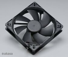 Akasa 120mm Black Case Fan, Twin Ball Bearing. AK-174BK-B