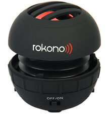 Rokono Bass + Mini altavoz para iPhone / iPad / iPod / Reproductor De Mp3 / ordenador portátil-Negro