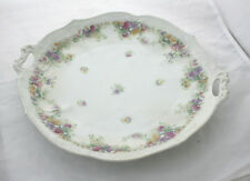 Antique Victorian Serving Bowl Dish 4 Section German Floral Carl Tielsch