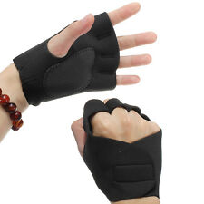 1 Pair of Neoprene Weight Lifting Workout GYM Palm Exercise Fingerless Gloves