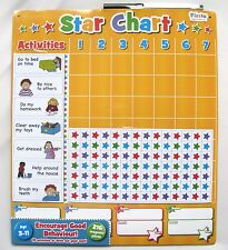 FIESTA CRAFTS LARGE MAGNETIC REWARD STAR CHART UP TO 4 CHILDREN - NEW & SEALED!