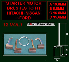 STARTER MOTOR BRUSHES BRUSH SET TO FIT MANY HITACHI NISSAN 12 VOLT UNITS 12VOLT