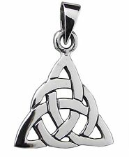 CELTIC TRINITY KNOT PENDANT 925 Sterling SILVER 30mm Drop Triquetra