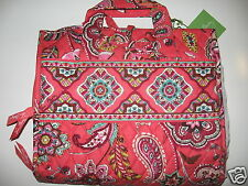 Vera Bradley CALL ME CORAL Large Hanging Organizer Cosmetic Travel Luggage Tote