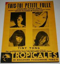 Partition vintage sheet music TINY YONG : Tais Toi Petite Folle * 60's Rare !!