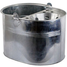 Mop Bucket Galvanised Metal Heavy Duty Cleaning Home Basket Strong Handle Room