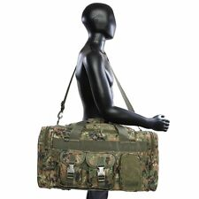 USMC Marines Marpat Woodland Camo Tactical Duffel Bag W Shoulder Strap & US Flag